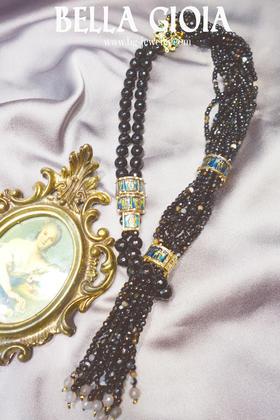 镐玛瑙多盘复古项链