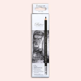 马可素描专用碳笔(软/中)12支纸盒包装 7010-12CB(S)