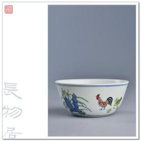 长物居 精工版 成化斗彩陶瓷鸡缸杯 景德镇手工仿古瓷器茶杯茶具