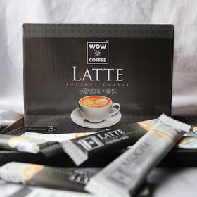 沃欧咖啡 经典拿铁即溶咖啡 馥郁丝滑 奶香满溢 28杯