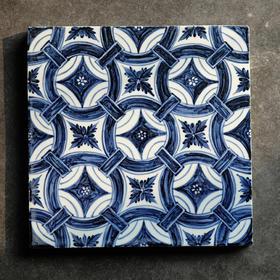 长物居【长窑制器】做一块大明永乐年瓷砖 手绘青花瓷板画装饰画