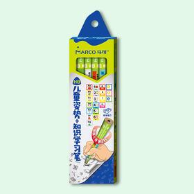 马可 粗三角儿童知识学习铅笔6支装 1045-HB-6CB