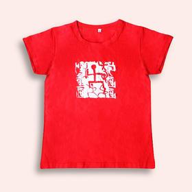儿童红色T恤 下单时请往大一码买