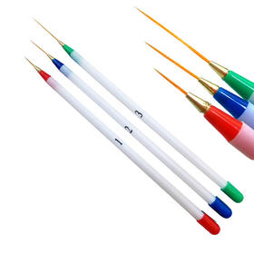 美甲专用拉线笔 彩绘画花笔 直线描线笔 大中小三支套装 拉线笔