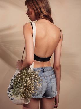 MIMI FANTASY细肩带U型大露背无钢圈内衣 美背内衣
