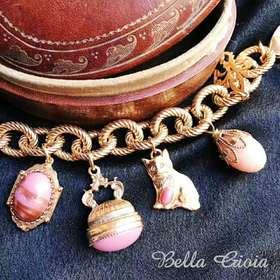 维多利亚后期风格复古挂饰手链