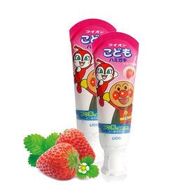日本原装狮王Lion面包超人儿童牙膏草莓味 /哈密瓜味 40g