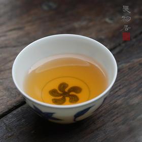 仿成化手绘青花栀子花纹小杯品茗杯 功夫茶杯 景德镇手工陶瓷茶具