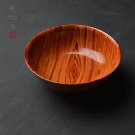 仿生佳器 木纹釉瓷器碗 景德镇手工仿古陶瓷