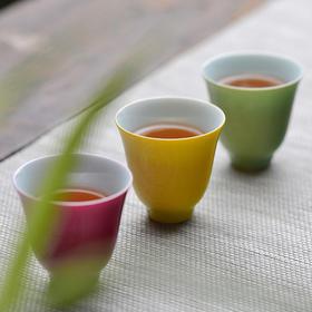 【观味】长物居全新品牌专注陶瓷茶杯 景德镇颜色釉茶杯茶具