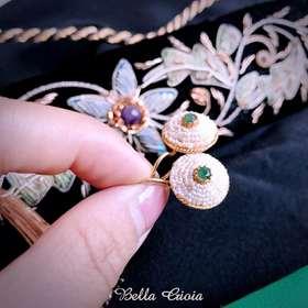 绿宝石简雅耳环
