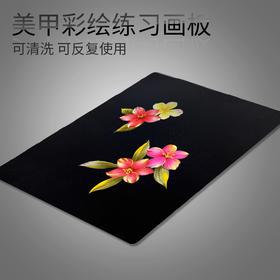 美甲彩绘板可擦洗练习画板水洗画板画花调色板练习模版可重复使用