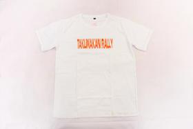 2018环塔拉力赛夏季新款印花圆领T恤  白色字母款