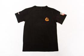 2018环塔拉力赛夏季新款印花圆领T恤   黑色