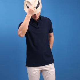 高衬衫领短袖POLO衫T恤衫