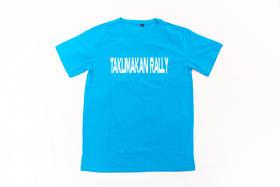 2018环塔拉力赛夏季新款印花圆领T恤  蓝色字母款
