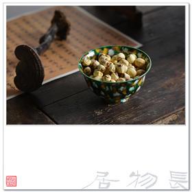 长物居 素三彩虎皮斑小碗 景德镇仿古陶瓷餐碗