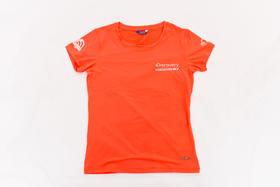 环塔拉力赛Discover联名   女士夏季新款印花圆领T恤  莹红