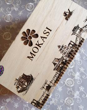 日式木纹纯色胶6色 车厘子巧克力浆果色环保木盒甲油胶带摆台