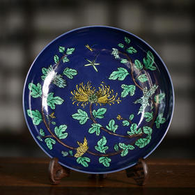 长窑制器 秋天,你需要一块优雅的菊花果盘陪伴