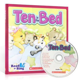 英文原版 Read and Sing:ten in the Bed 附CD 儿童启蒙英语韵文