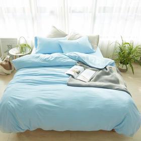 无印良品风针织棉纯色四件套/一年四季可用舒适柔软/床单床笠 多规格尺寸
