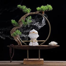 【装饰品】中式禅意倒流香炉摆件猴子陶瓷工艺品创意家居茶桌办公沉香香薰炉