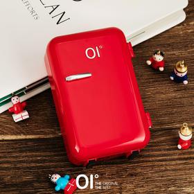 OI零积壹动创意冰箱移动电源快充个性自带充电线充电宝