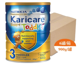 【新西兰直邮】Karicare 可瑞康金装 3段婴儿配方牛奶粉(6罐900g装)