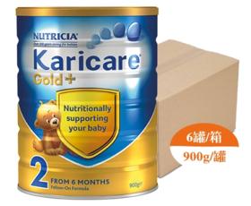 【新西兰直邮】Karicare 可瑞康金装 2段婴儿配方牛奶粉(6罐900g装)