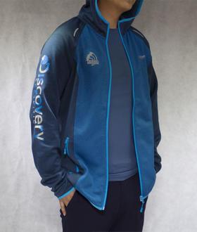 环塔拉力赛Discovery联名  男款抓绒秋冬保暖  蓝色