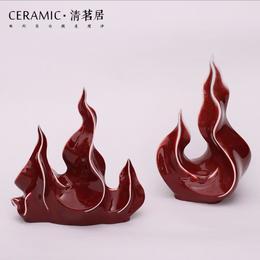 【陶瓷摆件】 陶瓷两峰三峰摆件 创意陶瓷各种规格 支持定制壁饰