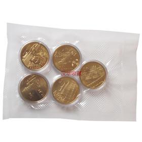 【店主推荐】台湾风光纪念币全套五枚 抽真空包装