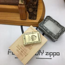 环塔限量版ZIPPO纯铜定制土豪金打火机  可选豹子号连号