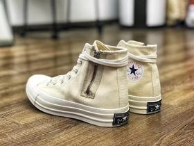 【情侣款】Converse addict by nigo余文乐同款 侧边拉链的独特设计 全新复古微翘楦型鞋头