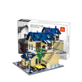【法国玩具】儿童DIY益智积木玩具 世界风情建筑法国乡村别墅5311