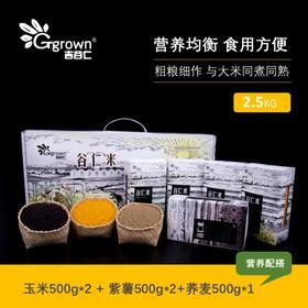 半岛优品 |五谷杂粮黄金米荞麦米紫薯米2500g杂粮水墨礼盒