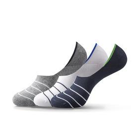 不掉跟的袜子 硅胶防滑 隐形不掉跟 活力条纹隐形船袜(3双)