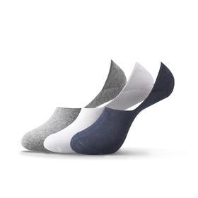 经典百搭隐形船袜 夏季纯色硅胶防滑棉袜隐形袜男士袜子(3双)
