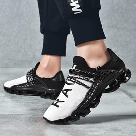 【弹力缓震2.0】外骨骼结构释能缓震跑鞋