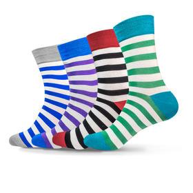 多彩条纹骚袜(4双)
