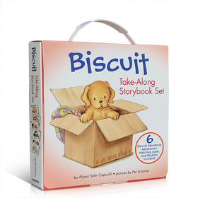 英文原版绘本小饼干狗 6册盒装 Biscuit Adventures Take-Along Storybook Set: mind your manners,birthday