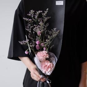 【康乃馨、千日红】康乃馨千日红情人草鲜花花束
