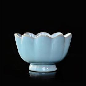 长物居 仿汝窑莲瓣碗 景德镇仿古陶瓷餐碗建水