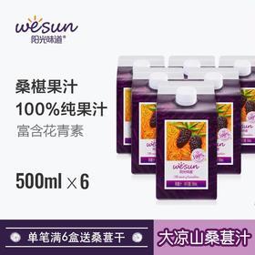 【桑葚汁 100%桑葚原汁】四川特产大凉山桑葚果原汁 阳光味道 满6瓶送桑葚干