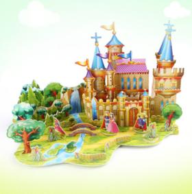 益智模型玩具 带你走进童话世界 格格巫城堡\皇帝的新衣\灰姑娘城堡\匹诺曹王国\青蛙王子
