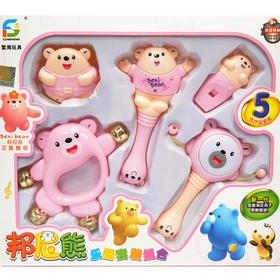 新生婴儿玩具套装幼儿手摇铃3-6-12个月早教男宝宝拨浪鼓女孩0岁1