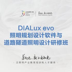 DIALux evo照明规划设计软件与道路隧道照明设计研修班