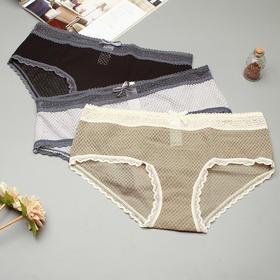 ViViMoschine 2018SS镂空蕾丝款内裤-3条装