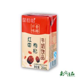 香满楼红枣枸杞牛奶 一箱12盒(250ml/盒)【拍前请看温馨提示】